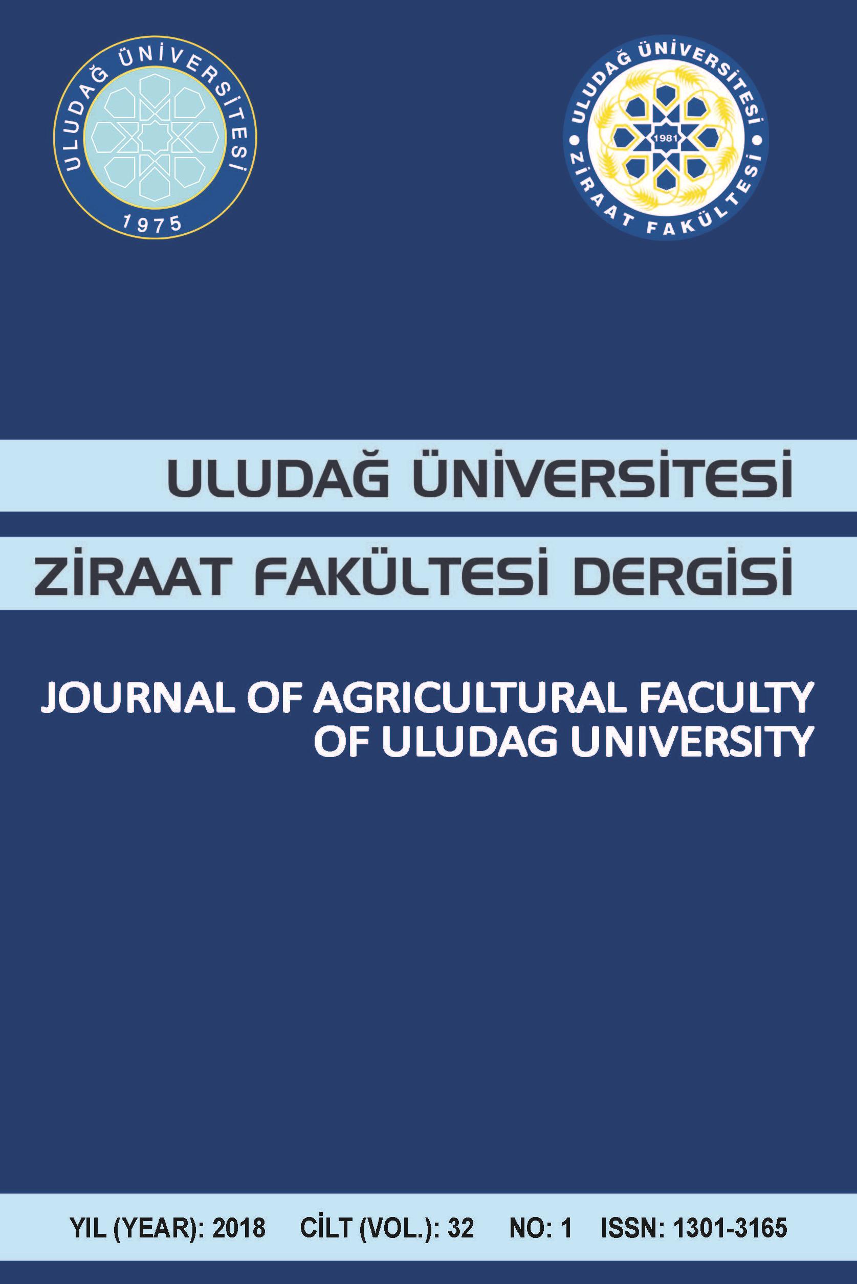 Uludağ Üniversitesi Ziraat Fakültesi Dergisi