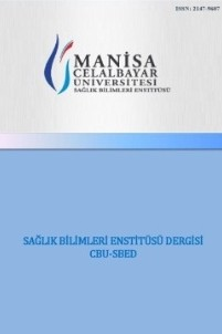 Celal Bayar Üniversitesi Sağlık Bilimleri Enstitüsü Dergisi