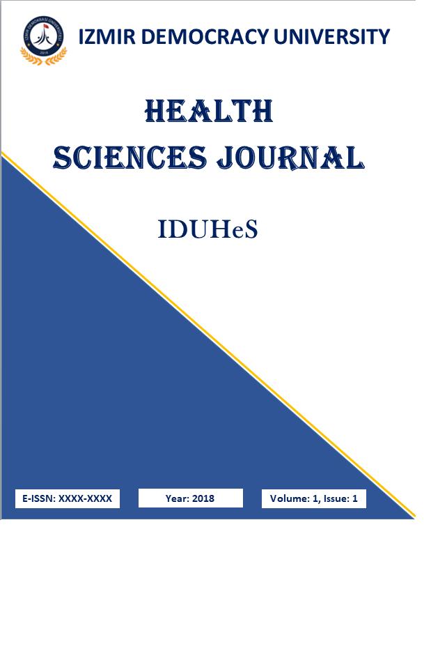 Izmir Democracy University Health Sciences Journal