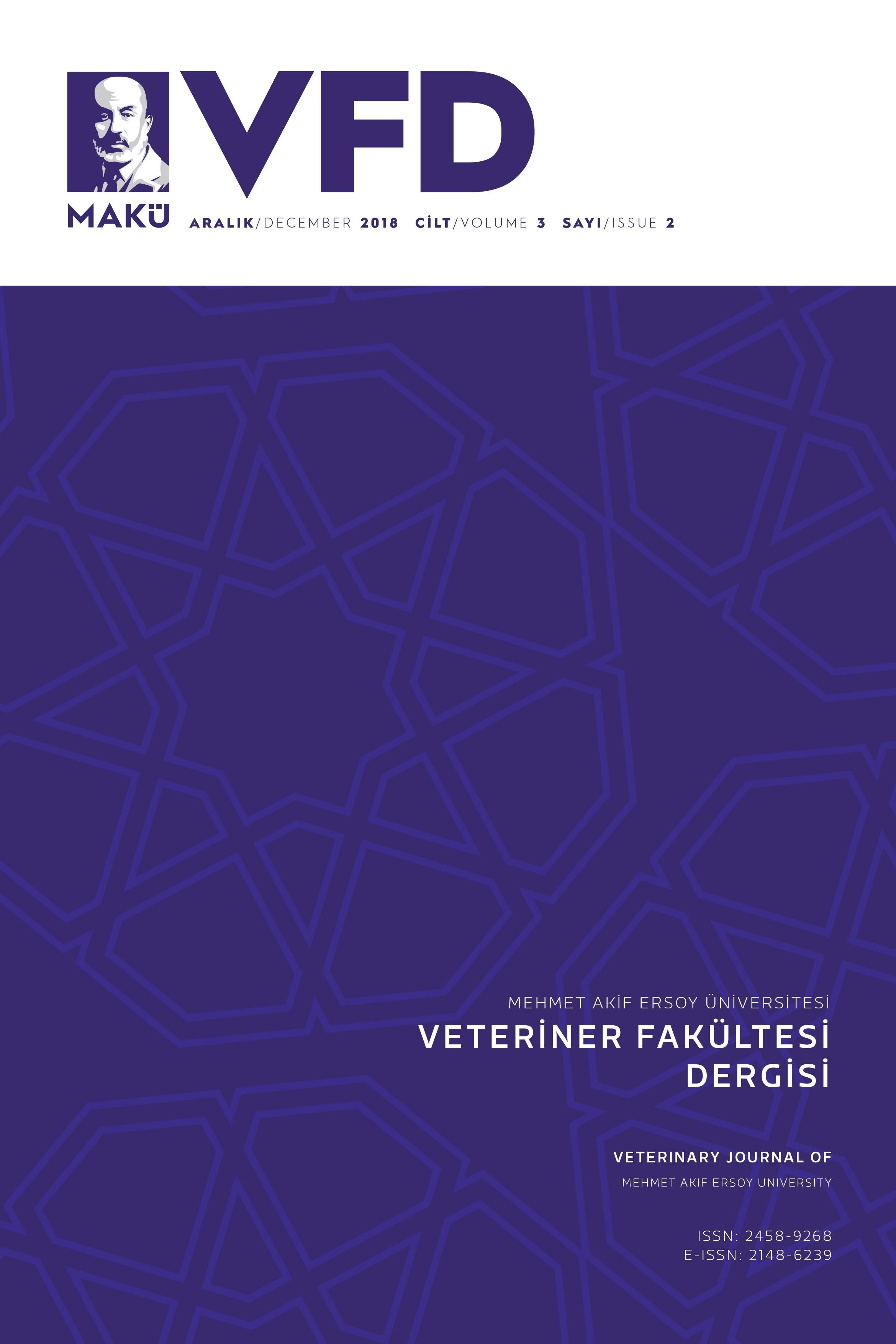Mehmet Akif Ersoy Üniversitesi Veteriner Fakültesi Dergisi