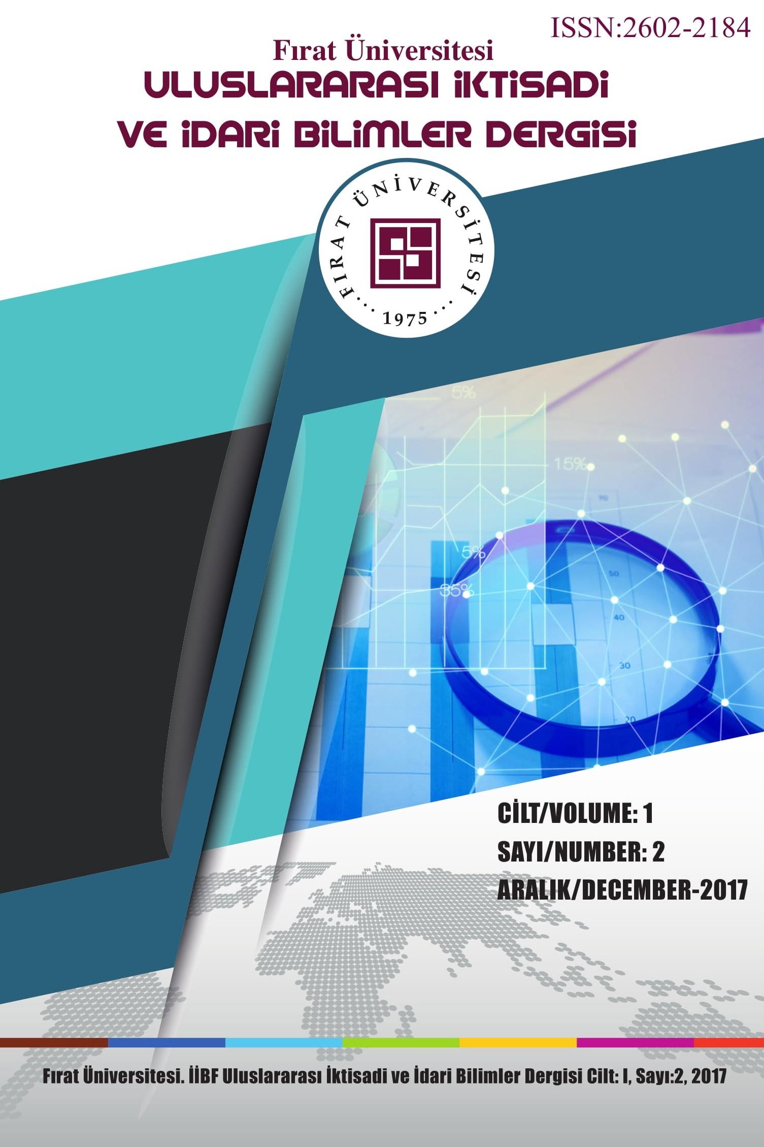 Fırat Üniversitesi Uluslararası İktisadi ve İdari Bilimler Dergisi