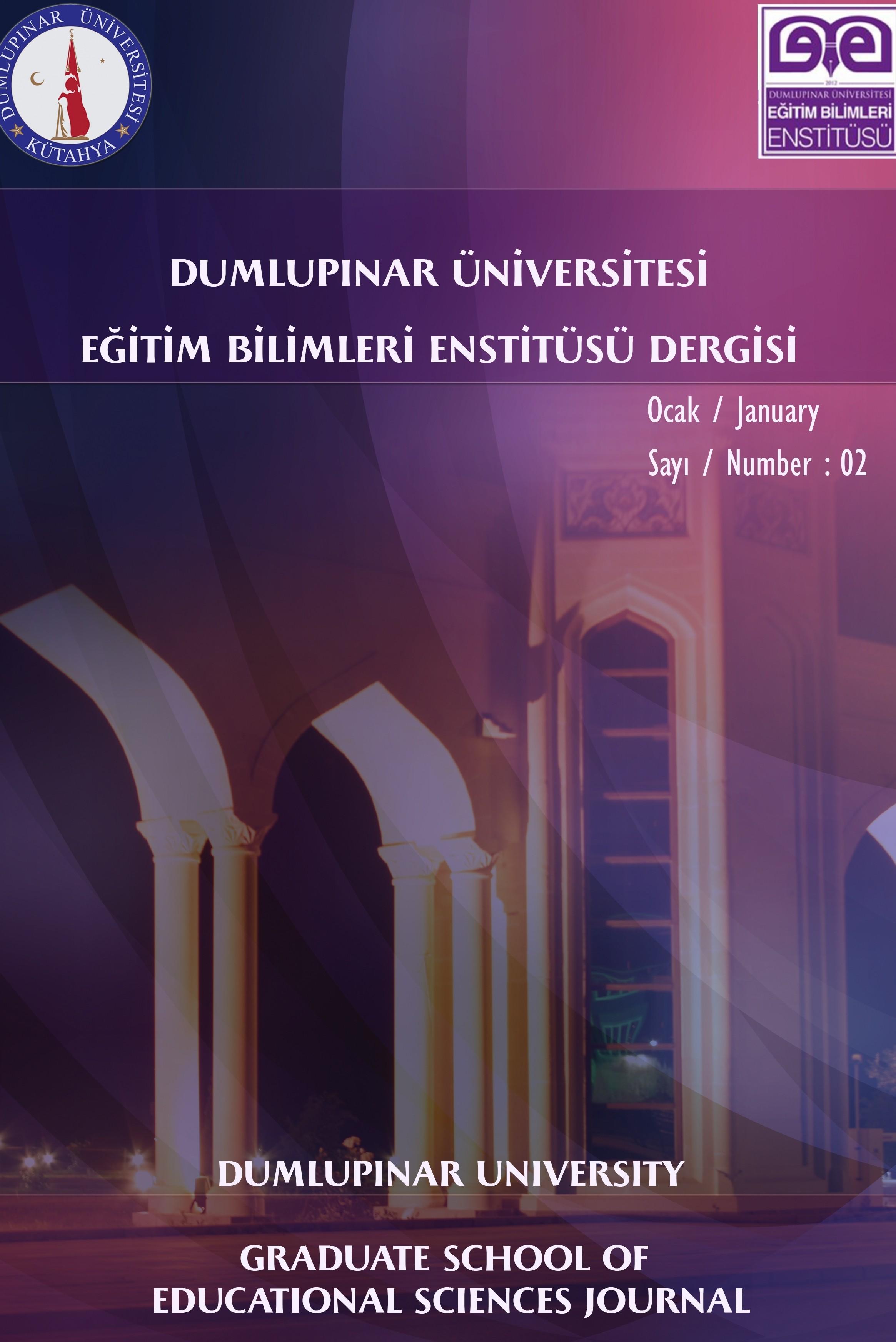 Journal of The Intitute of Education Sciences Dumlupınar University
