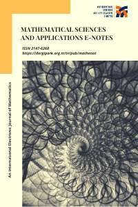 Mathematical Sciences and Applications E-Notes