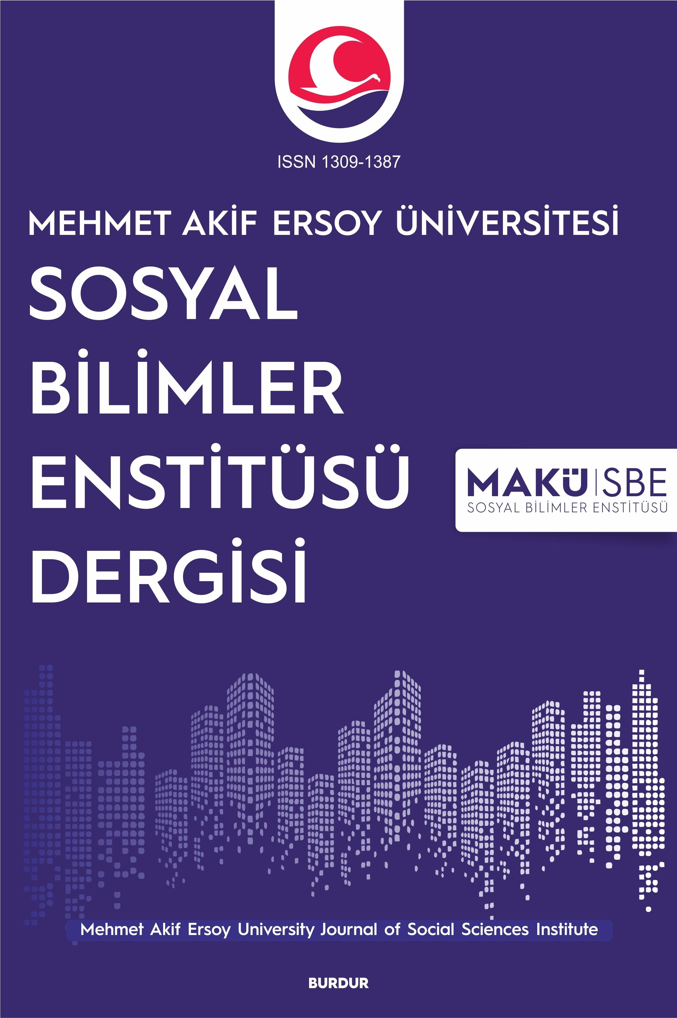 Mehmet Akif Ersoy University Journal of Social Sciences Institute